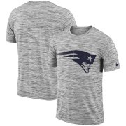 Wholesale Cheap New England Patriots Nike Sideline Legend Velocity Travel Performance T-Shirt Heathered Black