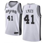 Wholesale Cheap Nike Spurs #41 Trey Lyles White NBA Swingman Association Edition Jersey