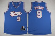 Wholesale Cheap Men's Sacramento Kings #9 Rajon Rondo Revolution 30 Swingman 2015-16 Blue Jersey