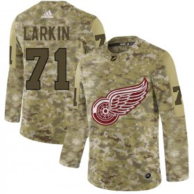 Wholesale Cheap Adidas Red Wings #71 Dylan Larkin Camo Authentic Stitched NHL Jersey