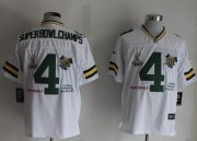 Wholesale Cheap Nike Packers #4 Superbowlchamps White Men's Stitched NFL Limited Jersey