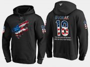 Wholesale Cheap Coyotes #18 Christian Dvorak NHL Banner Wave Usa Flag Black Hoodie