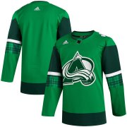 Wholesale Cheap Colorado Avalanche Blank Men's Adidas 2020 St. Patrick's Day Stitched NHL Jersey Green.jpg