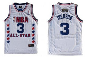 Wholesale Cheap NBA 2003 All-Star #3 Allen Iverson White Swingman Throwback Jersey