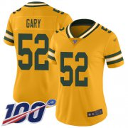 Wholesale Cheap Nike Packers #52 Rashan Gary Gold Women's Stitched NFL Limited Inverted Legend 100th Season Jersey