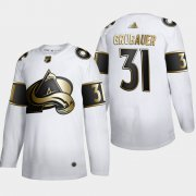 Wholesale Cheap Colorado Avalanche #31 Philipp Grubauer Men's Adidas White Golden Edition Limited Stitched NHL Jersey