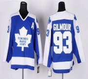 Wholesale Cheap Maple Leafs #93 Doug Gilmour Blue/White CCM Throwback Stitched NHL Jersey