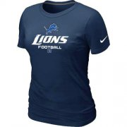 Wholesale Cheap Women's Nike Detroit Lions Critical Victory NFL T-Shirt Dark Blue