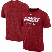Wholesale Cheap Arizona Diamondbacks Nike Authentic Collection Velocity Team Issue Performance T-Shirt Red