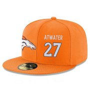 Wholesale Cheap Denver Broncos #27 Steve Atwater Snapback Cap NFL Player Orange with White Number Stitched Hat
