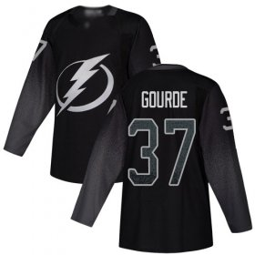 Cheap Adidas Lightning #37 Yanni Gourde Black Alternate Authentic Stitched NHL Jersey