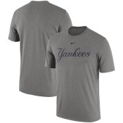 Wholesale Cheap New York Yankees Nike Legend Primary Logo Performance T-Shirt Heathered Gray