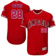 Wholesale Cheap Angels of Anaheim #28 Andrew Heaney Red Flexbase Authentic Collection Stitched MLB Jersey