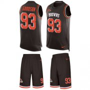 Wholesale Cheap Nike Browns #93 B.J. Goodson Brown Team Color Men's Stitched NFL Limited Tank Top Suit Jersey
