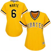 Wholesale Cheap Pirates #6 Starling Marte Gold Alternate Women's Stitched MLB Jersey