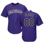 Wholesale Cheap Colorado Rockies Majestic Alternate Cool Base Custom Jersey Purple