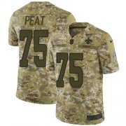 Wholesale Cheap Nike Saints #75 Andrus Peat Camo Men's Stitched NFL Limited 2018 Salute To Service Jersey