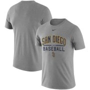 Wholesale Cheap San Diego Padres Nike Away Practice T-Shirt Heathered Gray