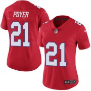 Wholesale Cheap Nike Bills #21 Jordan Poyer Red Women's Stitched NFL Limited Rush Jersey