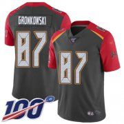 Wholesale Cheap Nike Buccaneers #87 Rob Gronkowski Gray Men's Stitched NFL Limited Inverted Legend 100th Season Jersey