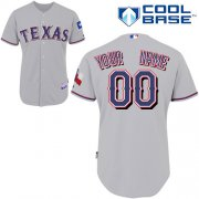 Wholesale Cheap Rangers Customized Authentic Grey Cool Base MLB Jersey (S-3XL)