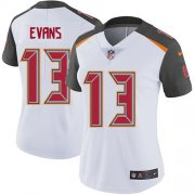 Wholesale Cheap Nike Buccaneers #13 Mike Evans White Women's Stitched NFL Vapor Untouchable Limited Jersey