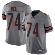 Wholesale Cheap Nike Bears #74 Germain Ifedi Silver Men's Stitched NFL Limited Inverted Legend Jersey