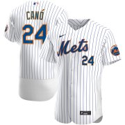 Wholesale Cheap New York Mets #24 Robinson Cano Men's Nike White Home 2020 Authentic Player MLB Jersey