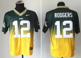 Wholesale Cheap Nike Packers #12 Aaron Rodgers Green/Gold Men\'s Stitched NFL Elite Fadeaway Fashion Jersey