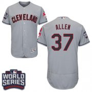 Wholesale Cheap Indians #37 Cody Allen Grey Flexbase Authentic Collection 2016 World Series Bound Stitched MLB Jersey