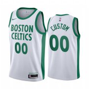 Wholesale Cheap Men's Nike Celitcs Custom Personalized Swingman White NBA 2020-21 City Edition Jersey