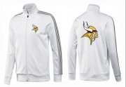 Wholesale Cheap NFL Minnesota Vikings Team Logo Jacket White_1