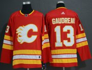 Wholesale Cheap Adidas Flames #13 Johnny Gaudreau Red Alternate Authentic Stitched NHL Jersey