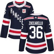 Wholesale Cheap Adidas Rangers #36 Mats Zuccarello Navy Blue Authentic 2018 Winter Classic Women's Stitched NHL Jersey