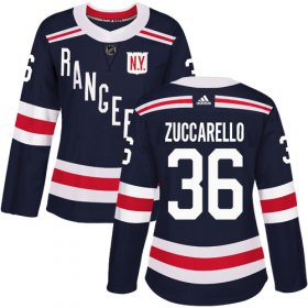 Wholesale Cheap Adidas Rangers #36 Mats Zuccarello Navy Blue Authentic 2018 Winter Classic Women\'s Stitched NHL Jersey