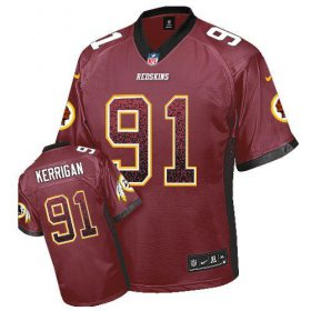 Wholesale Cheap Nike Redskins #91 Ryan Kerrigan Burgundy Red Team Color Men\'s Stitched NFL Elite Drift Fashion Jersey