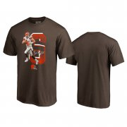 Wholesale Cheap Cleveland Browns #6 Baker Mayfield Brown Men's Player Graphic Powerhouse T-Shirt