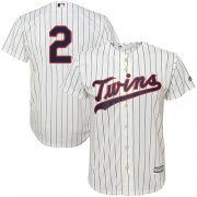 Wholesale Cheap Twins #2 Luis Arraez Cream Strip Cool Base Stitched Youth MLB Jersey