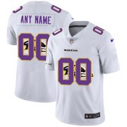 Wholesale Cheap Nike Baltimore Ravens Customized White Team Big Logo Vapor Untouchable Limited Jersey