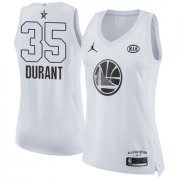 Wholesale Cheap Nike Golden State Warriors #35 Kevin Durant White Women's NBA Jordan Swingman 2018 All-Star Game Jersey