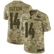 Wholesale Cheap Nike Broncos #14 Courtland Sutton Camo Men's Stitched NFL Limited 2018 Salute To Service Jersey