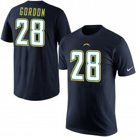 Wholesale Cheap Los Angeles Chargers #28 Melvin Gordon III Nike Player Pride Name & Number T-Shirt Navy