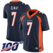 Wholesale Cheap Nike Broncos #7 John Elway Navy Blue Alternate Men's Stitched NFL 100th Season Vapor Limited Jersey