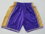 Wholesale Cheap Men's Los Angeles Lakers 2018-19 Purple Hardwood Classics Soul Swingman Throwback Shorts