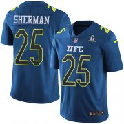 Wholesale Cheap Nike Seahawks #25 Richard Sherman Navy Men's Stitched NFL Limited NFC 2017 Pro Bowl Jersey