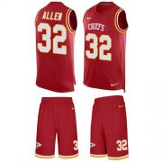 Wholesale Cheap Nike Chiefs #32 Marcus Allen Red Team Color Men's Stitched NFL Limited Tank Top Suit Jersey
