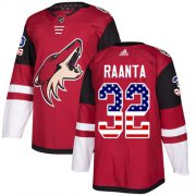 Wholesale Cheap Adidas Coyotes #32 Antti Raanta Maroon Home Authentic USA Flag Stitched NHL Jersey