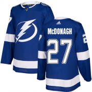 Wholesale Cheap Adidas Lightning #27 Ryan McDonagh Blue Home Authentic Stitched Youth NHL Jersey