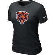 Wholesale Cheap Women's Chicago Bears Team Logo T-Shirt Black