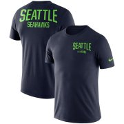 Wholesale Cheap Seattle Seahawks Nike Sideline Facility Performance T-Shirt College Navy